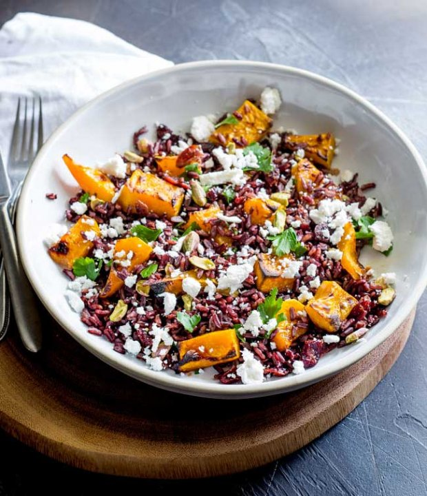 Black-Rice-Goats-Cheese-and-Maple-Roasted-Pumpkin-Salad2
