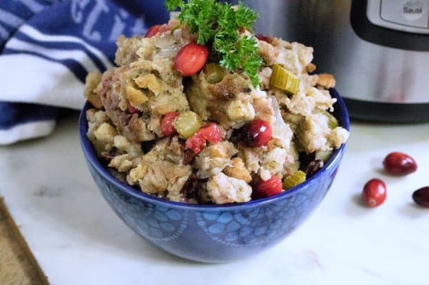 Cranberry Stuffing Instant Pot Recipe