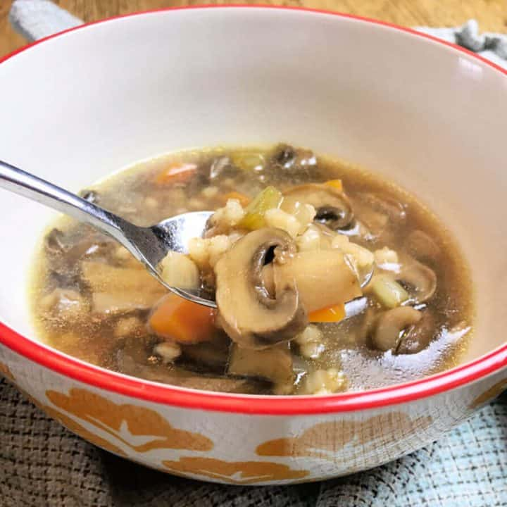 Mushroom Barley Soup in the Instant Pot