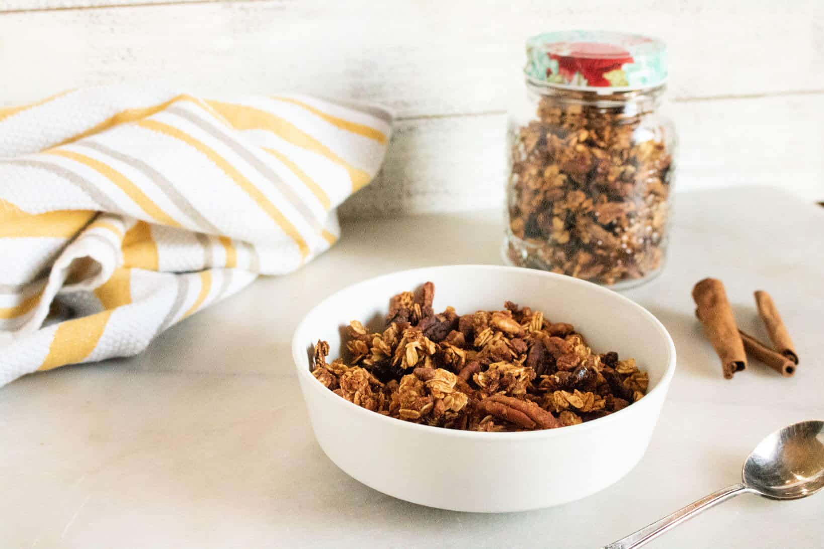Pumpkin Pecan Easy Granola Recipe