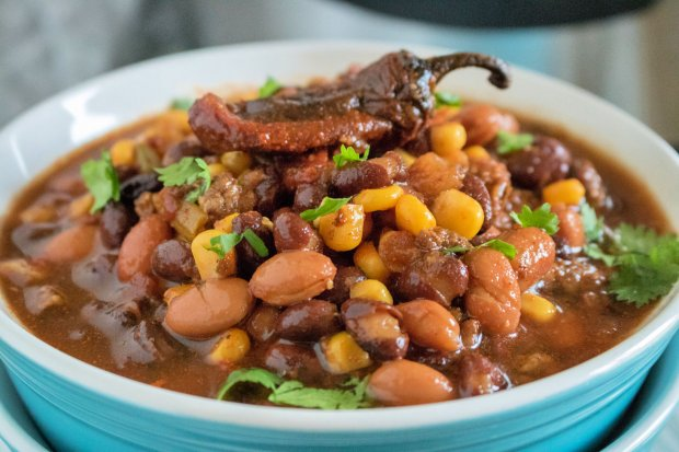 Instant Pot Bean soup with corn