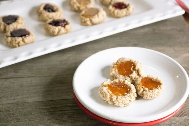 Jammy Almond Thumprint Cookies
