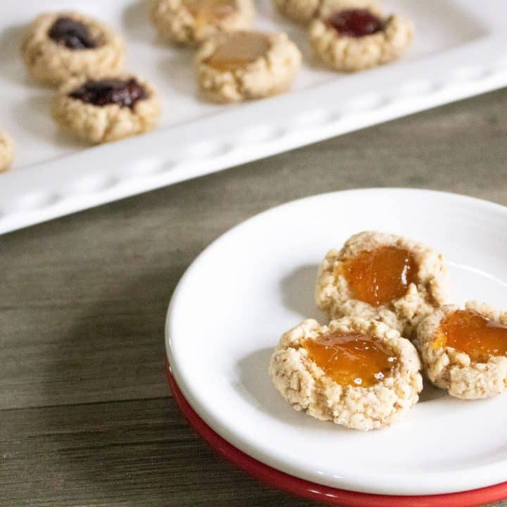 Jammy Almond Thumbprint Cookies
