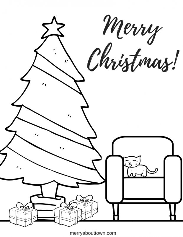 4 Free Christmas Coloring Pages For Kids - Merry About Town