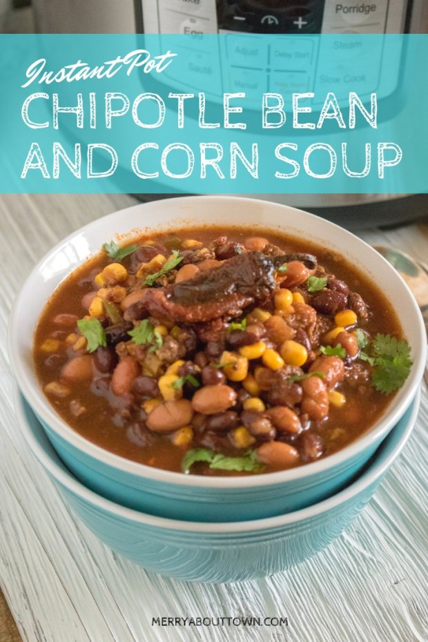 Instant Pot Bean Soup with Corn and Chipotle