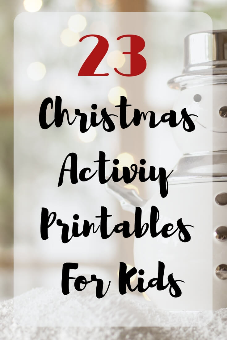 23 Christmas Activity Printables for kids