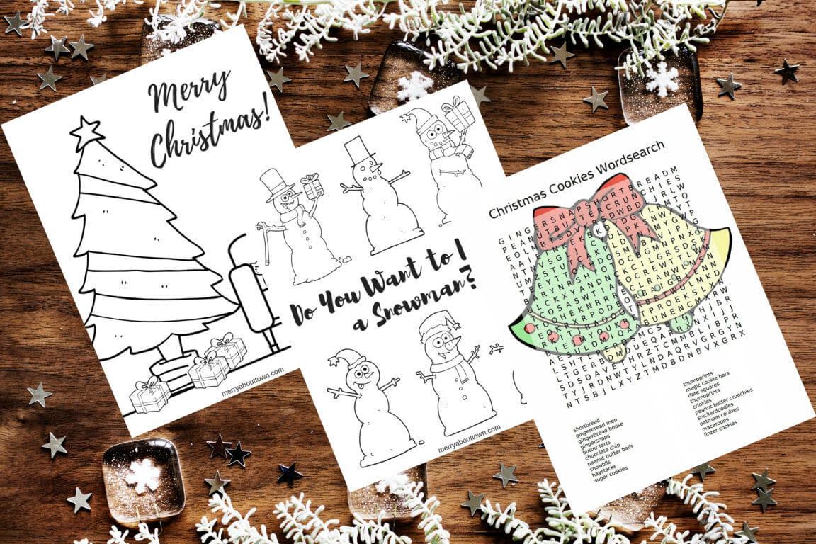 23 Christmas Activity Printables for Kids