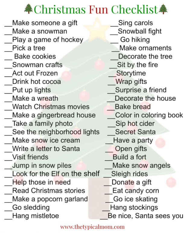 Christmas-fun-checklist