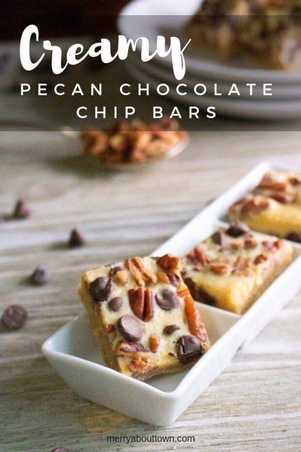 Creamy Pecan Chocolate Chip Bars