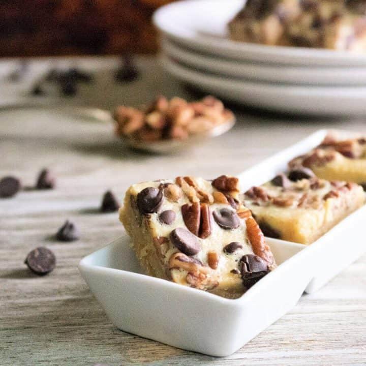 Creamy Pecan Chocolate Chip Bars