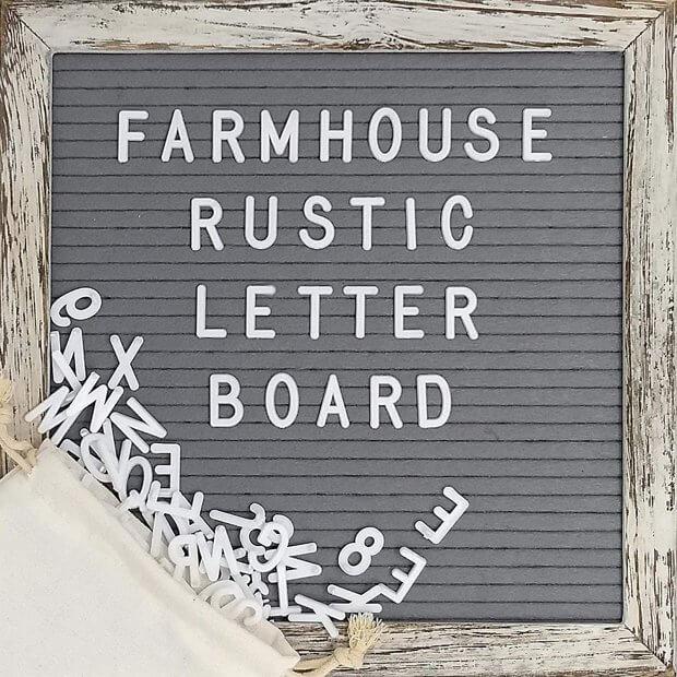 rustic letter board