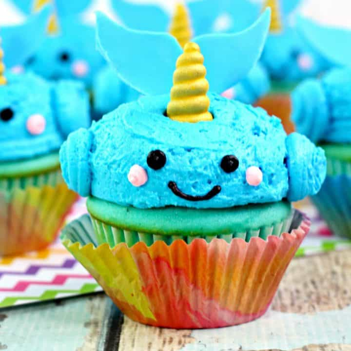 Adorable Narwhal Cupcakes
