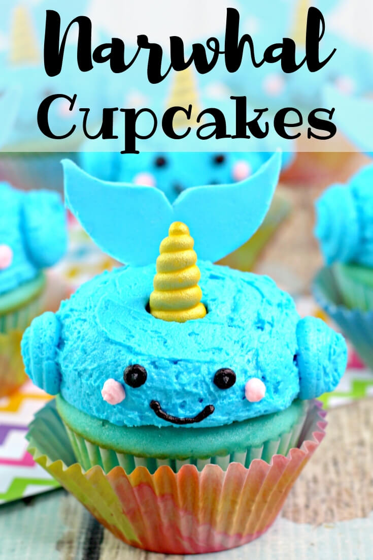 Narwhal Cupcakes Tutorial