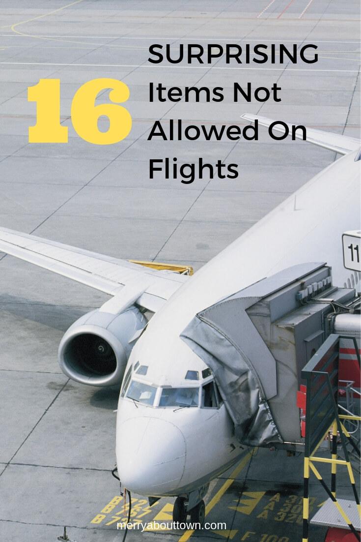 16 Surprising Items Not Allowed on Flights
