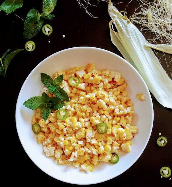 Mexican Style Spicy Street Corn Salad