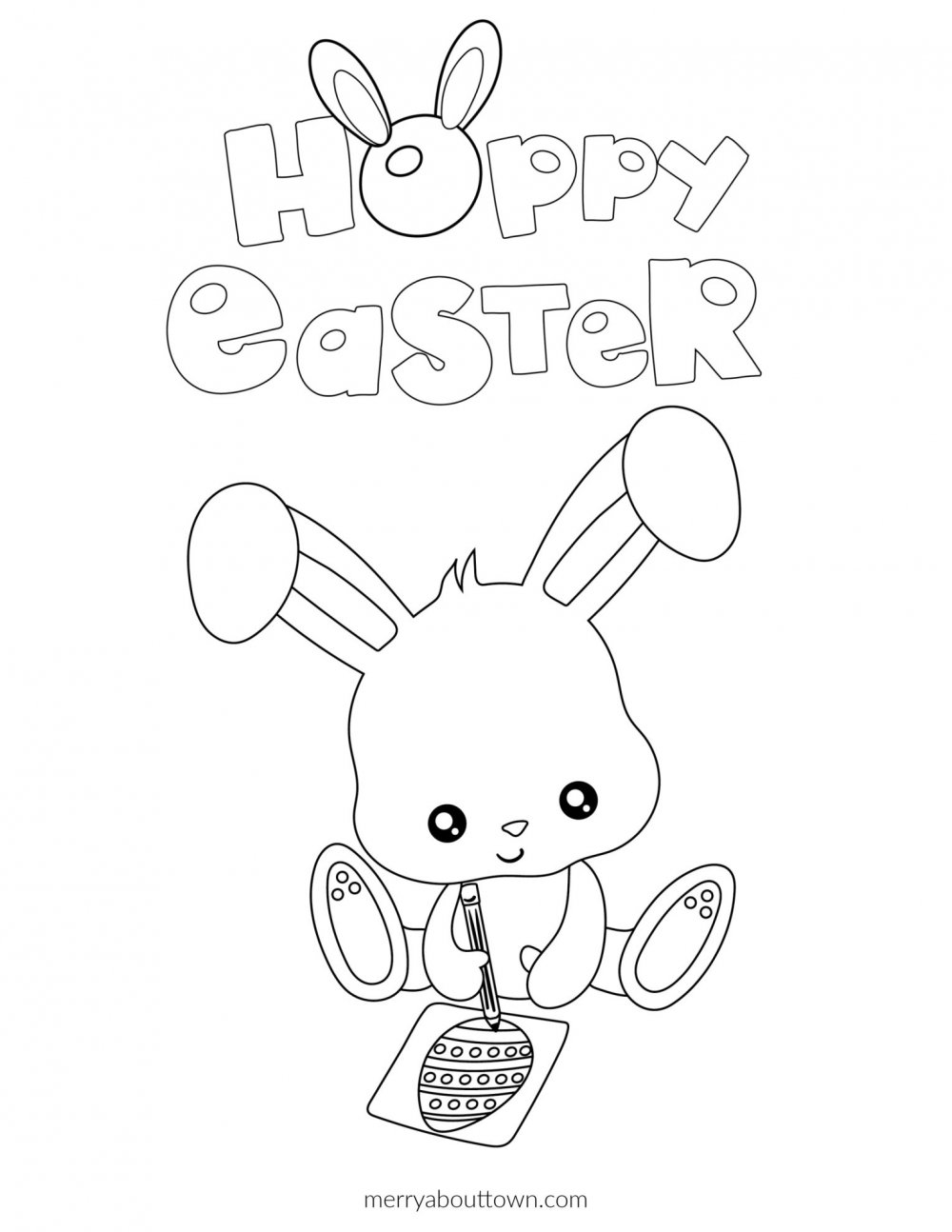 Hoppy Easter Free Easter Printable Coloring Pages