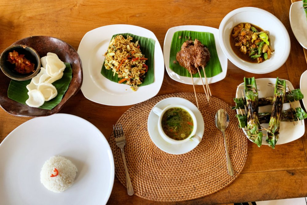 Our Balinese feast