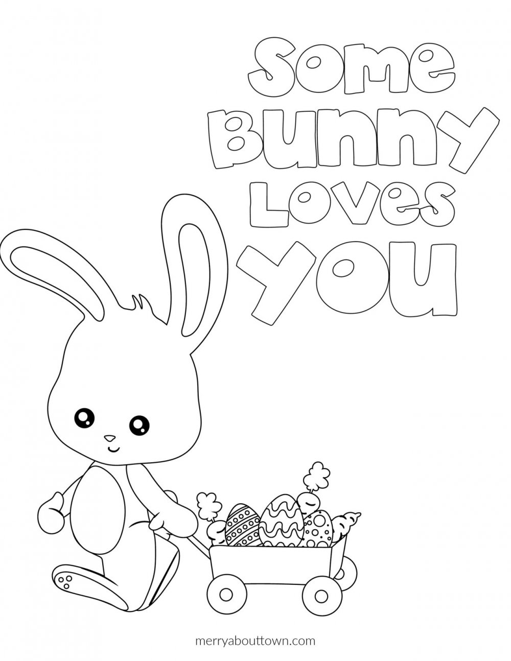 Free Easter Printable Coloring Pages - Merry About Town
