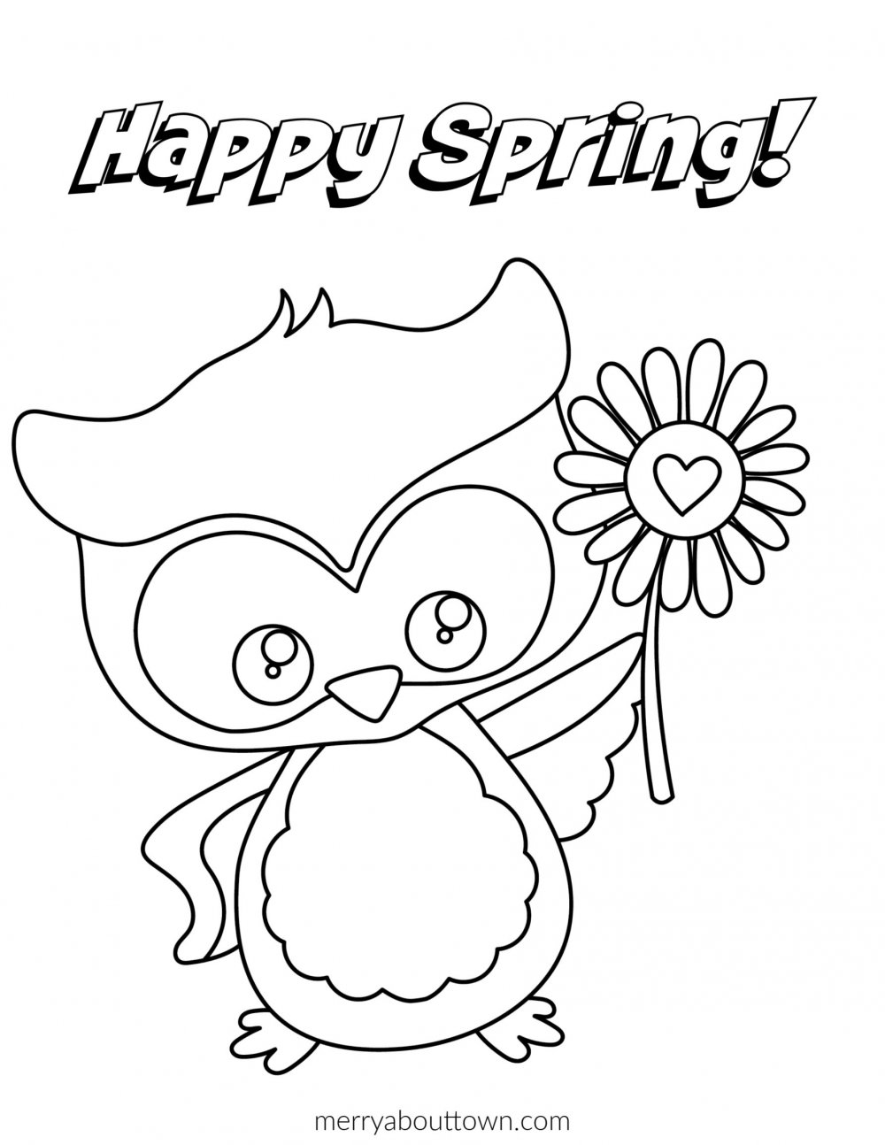 Free Printable Spring Coloring Sheets Merry About Town