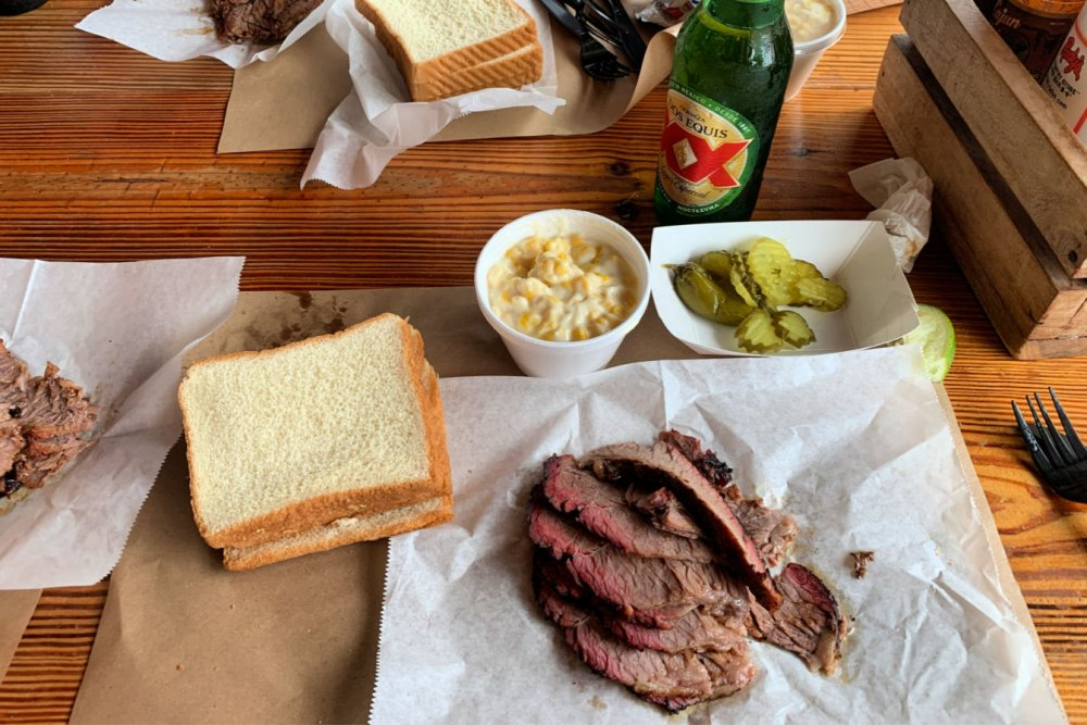 Bbq lunch at Rudy's in Austin, Texas