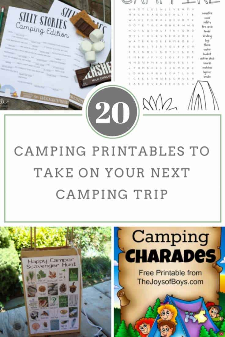 photograph relating to Camping Mad Libs Printable called 20 Tenting Printables in the direction of Get Upon Your Upcoming Tenting Getaway