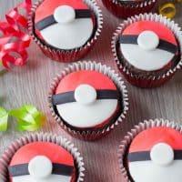 Pokeball Cupcakes for a Pokemon Party