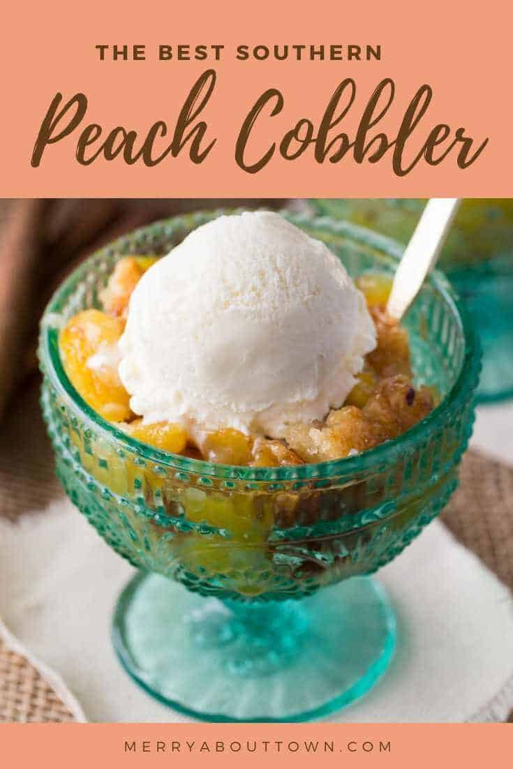 The best southern peach cobbler