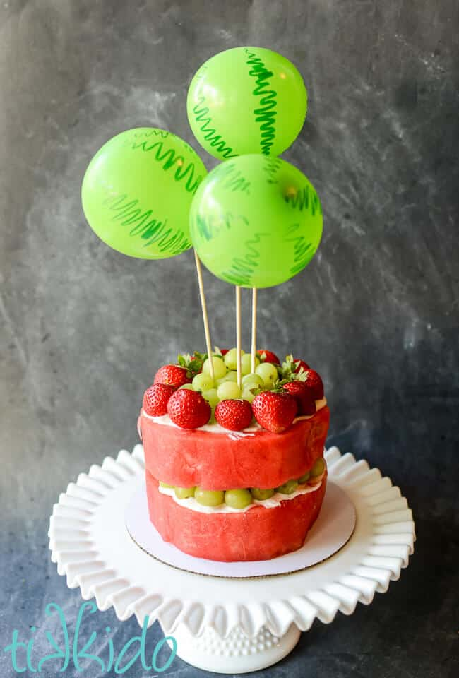 watermelon cake that can be a Birthday Cake Alternatives