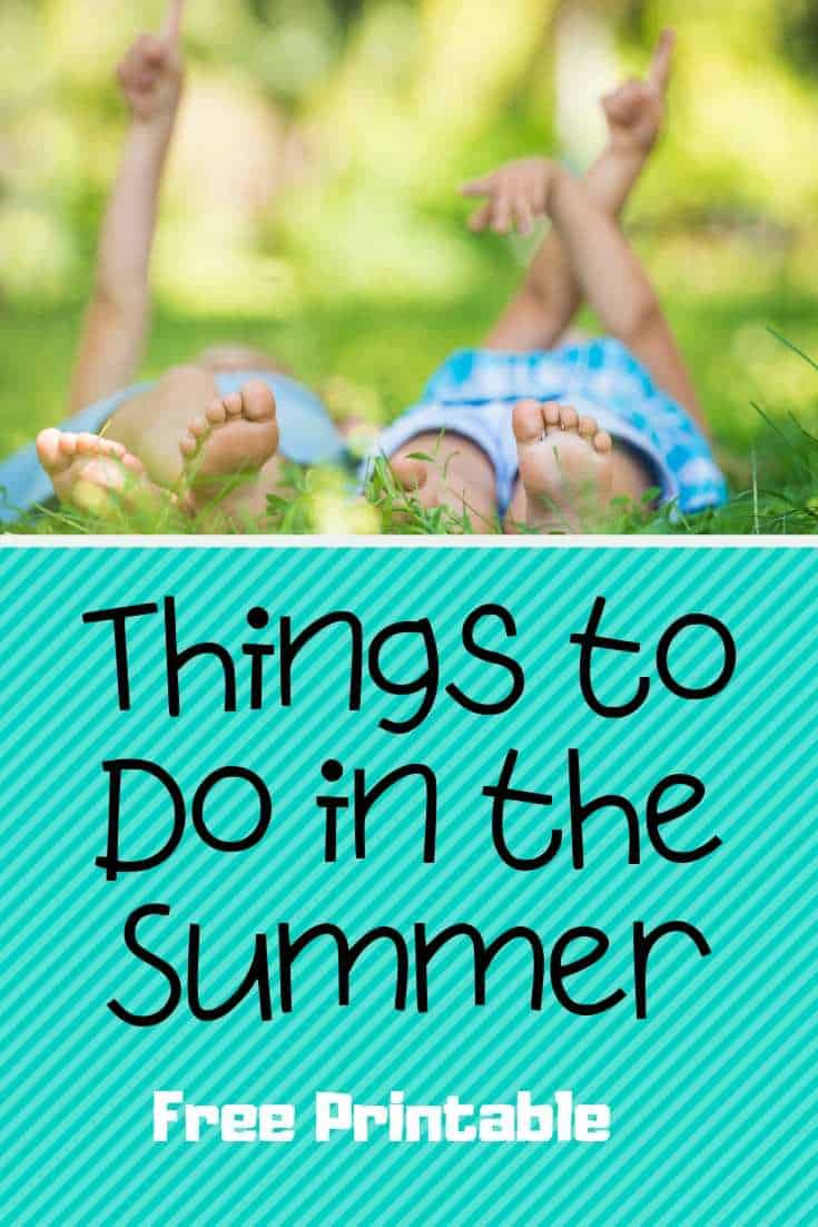Fun things to do in the summer FREE PRINTABLE