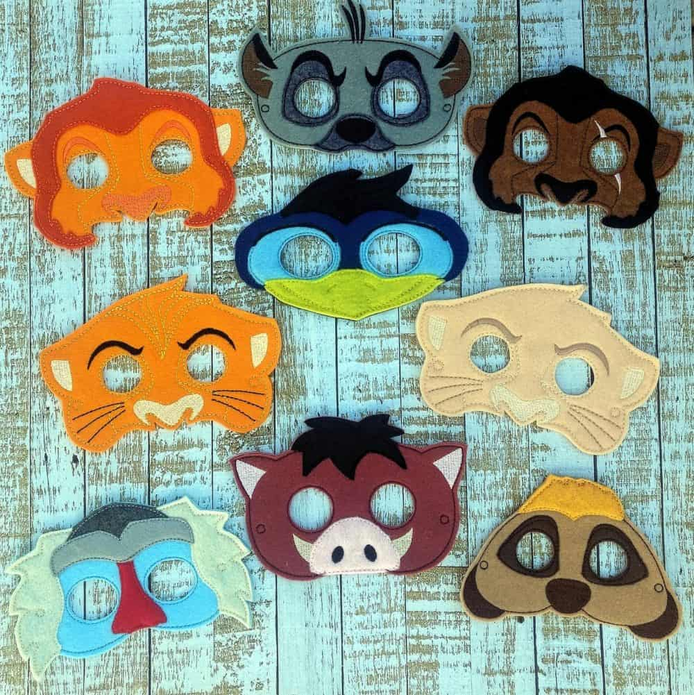 Lion King inspired masks from etsy