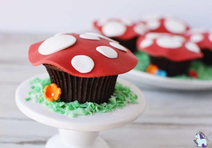 Magical Toadstool Cupcakes