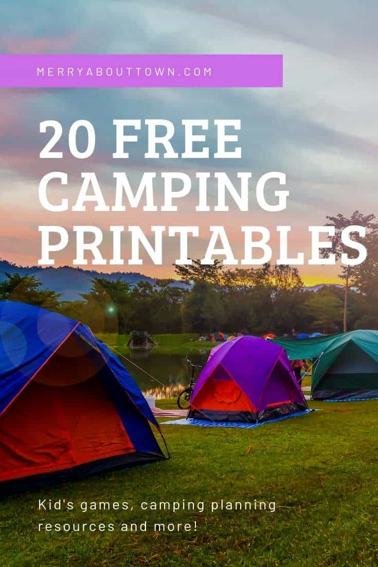 20 Camping Printables to take on your next camping trip. Kids games, camping planners and more.