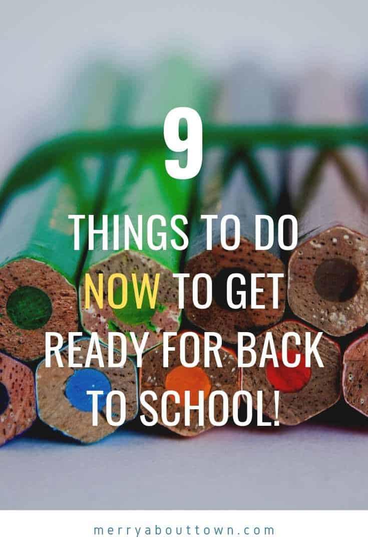 back to school checklist to prepare for Fall