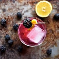 Coconut Water, Lavender, & Blackberry Mocktail