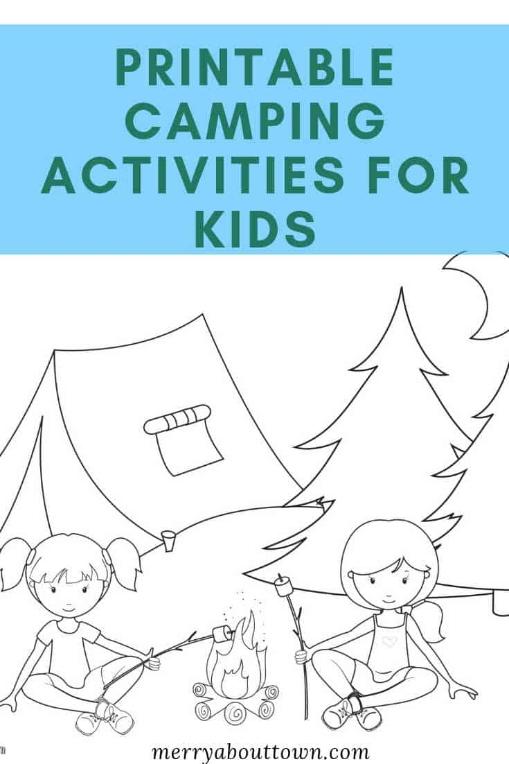 Fun and Free Printable Camping Activities for Kids. Perfect for on the way to camping or if it rains! #camping #freeprintables