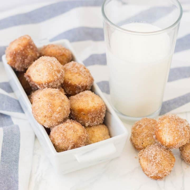 Stampede Mini Donuts and milk
