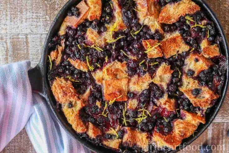 Easy Blueberry Bread Pudding Recipe