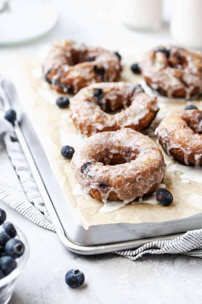 Blueberry Glazed Doughnuts