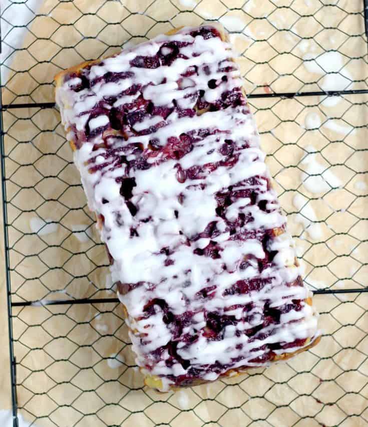 Blueberry Upside Down Quick Bread Recipe