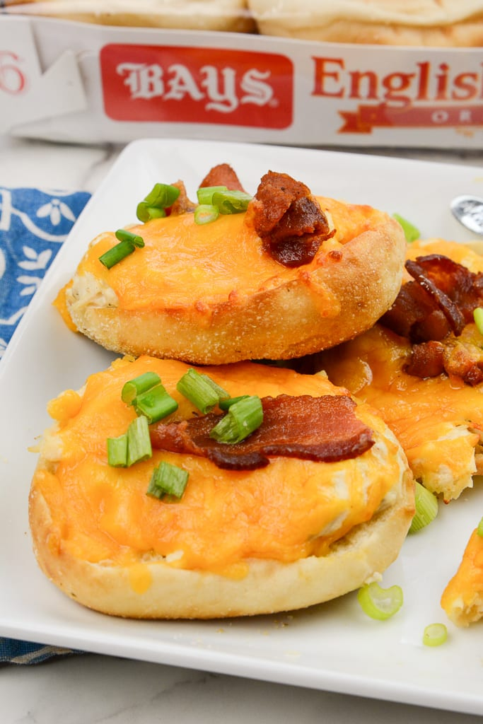 Chicken Bacon Ranch Bays English Muffins Pizzas