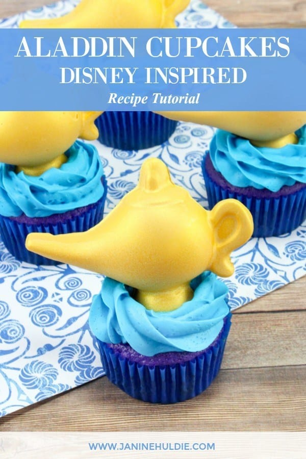 Aladdin Cupcakes Disney Inspired Recipe Tutorial for The Newest Movie