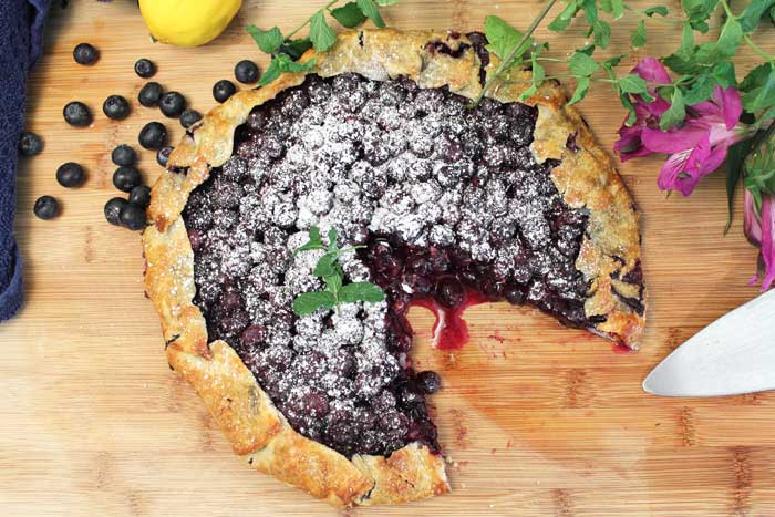 Easy Rustic Blueberry Galette A Summer Dessert