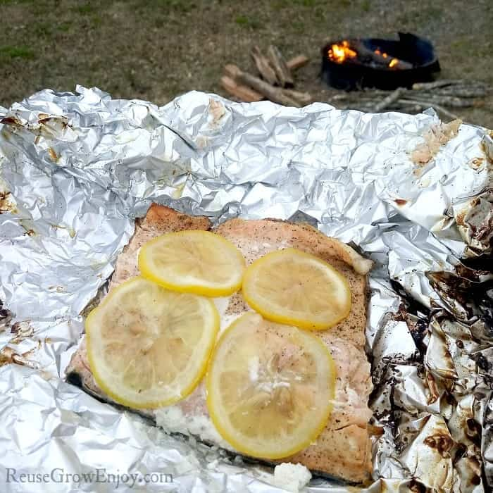 Foil Pack Campfire Cooked Salmon