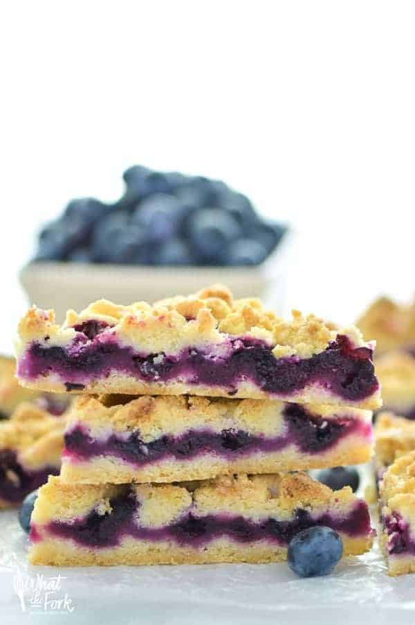 Gluten Free Blueberry Crumb Bars