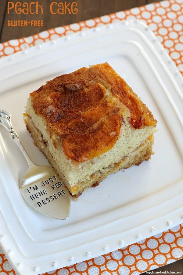 The Best Peach Cake {Gluten-free}