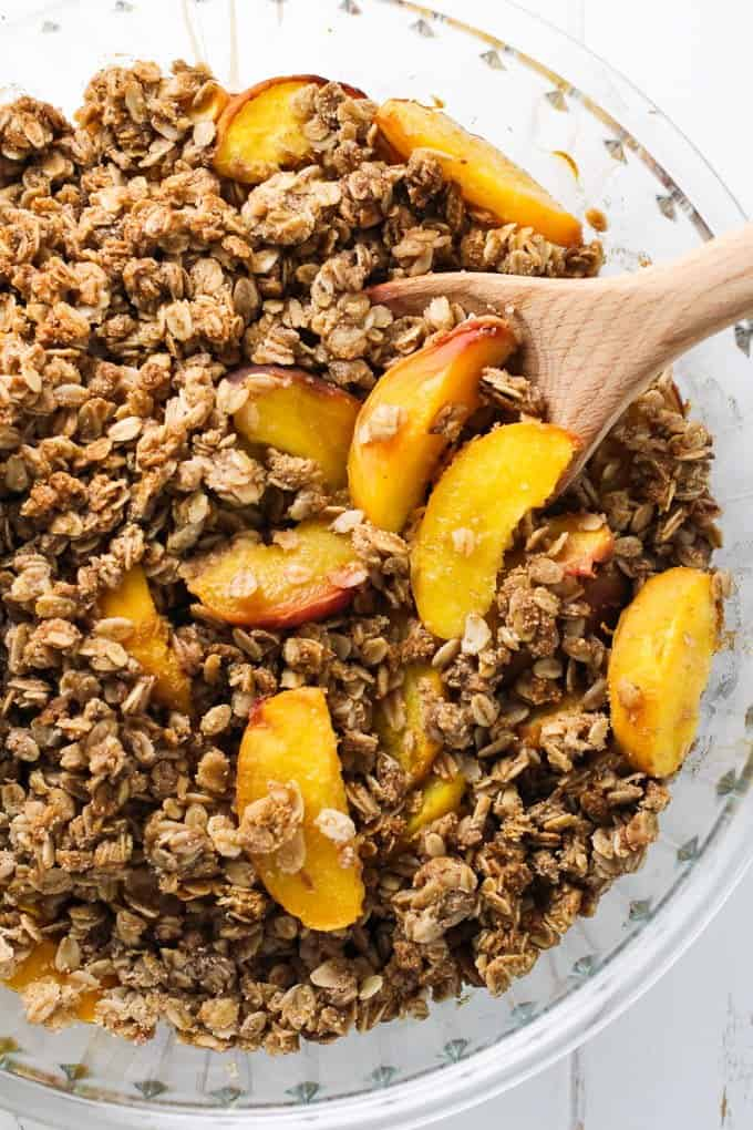 Healthy Peach Crisp - No Flour, No Cornstarch