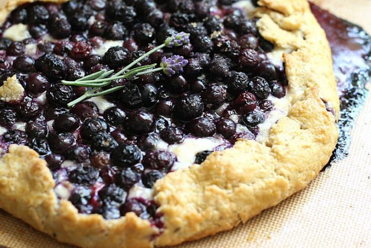Gluten-Free Blueberry Galette with Brie