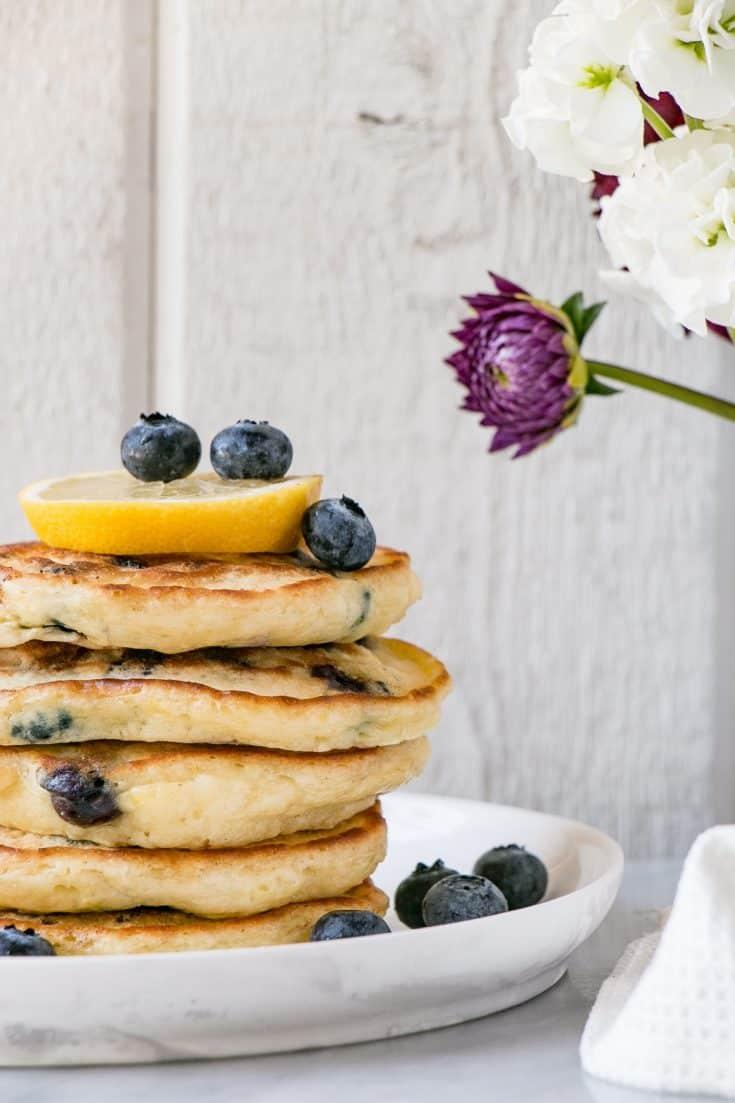 Lemon Blueberry Pancakes - My Kitchen Love