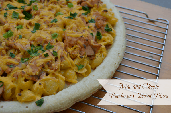 Mac and Cheese Barbecue Chicken Pizza Recipe - Simple Dinners with Budget Recipes