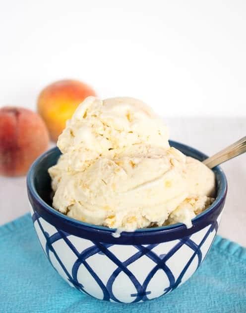 Old Fashioned Peach Ice Cream